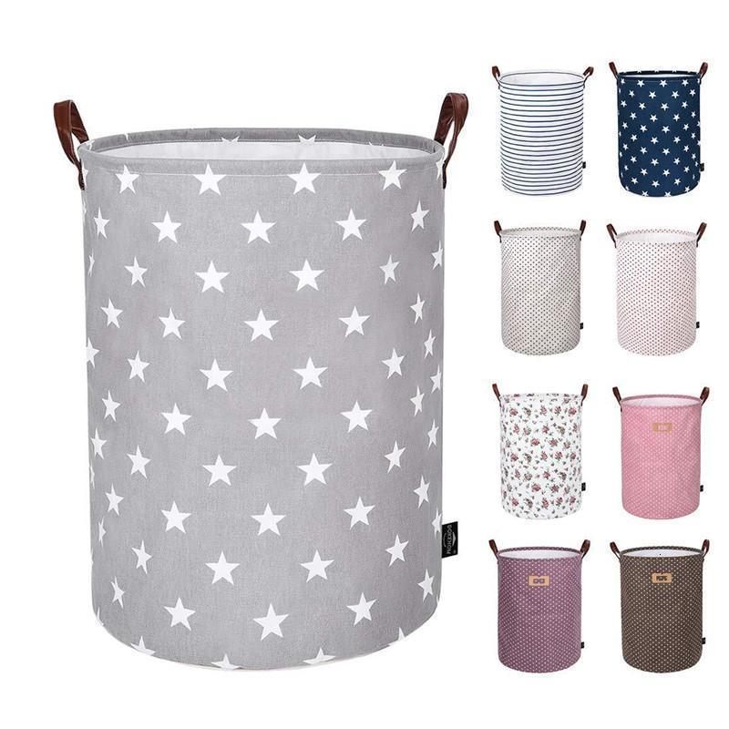 Cesta plegable Niños Juguetes Bolsas de almacenamiento Bins Impreso Impreso Sundry Bucket Canvags Ropa Organizador Tote 30pcs FFC16