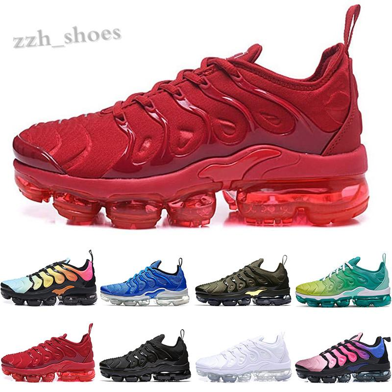 NIKE AIR VaporMax TN PIUS Yeni Varış TN Artı Ayakkabı Erkek Kadın Yün Gri Oyunu Kraliyet Tropikal Günbatımı Creamsicle Sneakers Spor Erkek Eğitmenler Boyutu 36-45 PR07