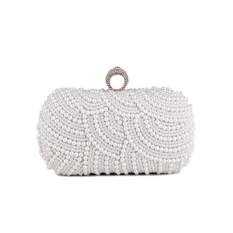 Xwikc Luxurys Designer Purse 2020 Shoulder Vintage Handbag Wedding Women ELegant Bags Evening Bag Shiny Bag Clutch Pearl For Party Lnjia