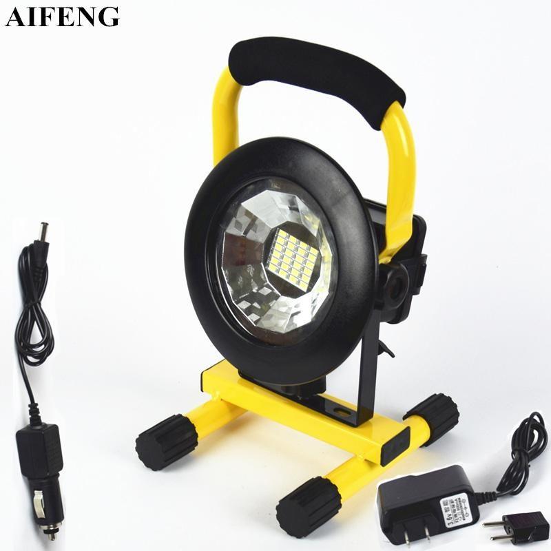 Aifeng 30W LED Spotlight portátil 24leds 5730 2400LM LED Holofote 18650 Bateria Recarregável Portátil Spotlight Acampamento Luzes