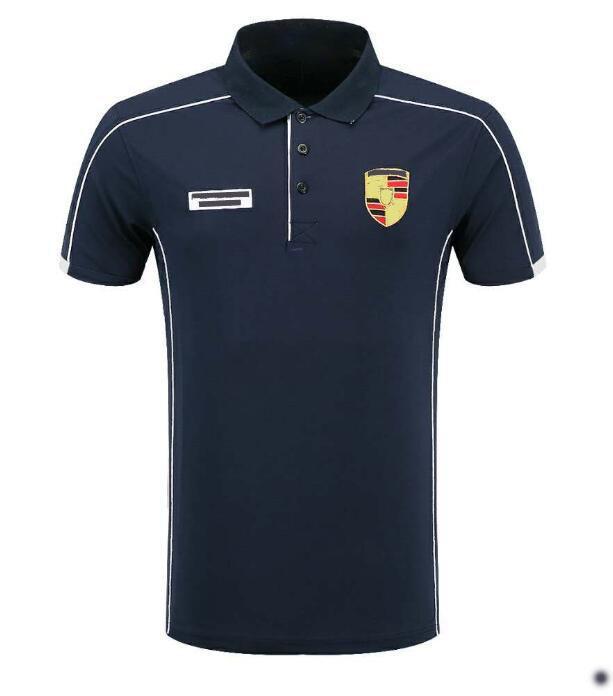 2020 Nouvelle moto T-shirt Racing Costume Polo T-shirt Décontracté T-shirt Jersey T-shirt T-shirt Polyester Séchage rapide Lape à manches courtes à manches courtes