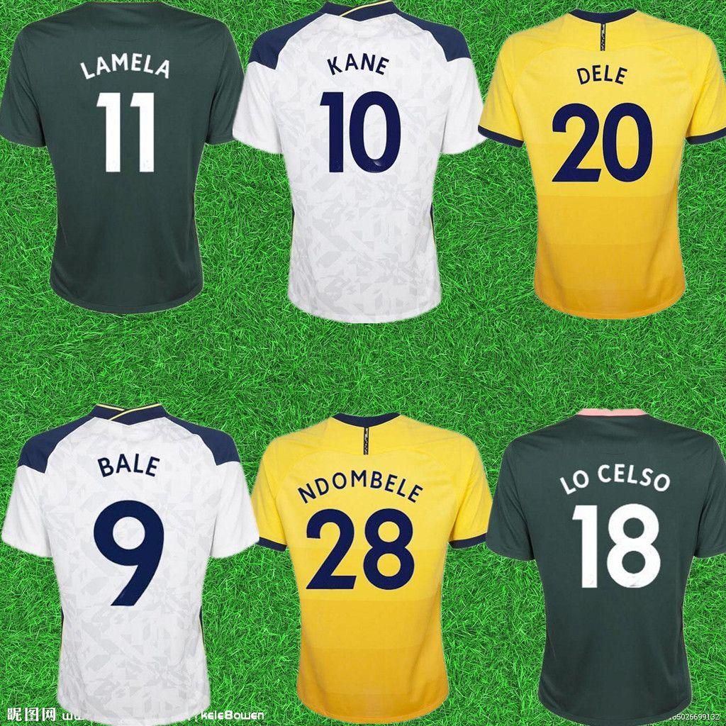 20 21 Home Away 9 Bale Reguilon Futebol Jerseys Kane Son Bergwijn Ndombele 2020 2021 Lucas Dele Futebol Camisas Lo Celso Home Homens