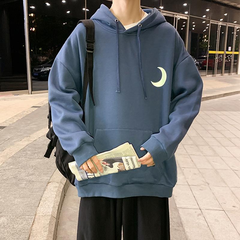 Privathinker Hip Hop Hoodies Reflective Moon Men automne chaud Hommes Casual hoodies 2020 Homme surdimensionnées Sweats Tops