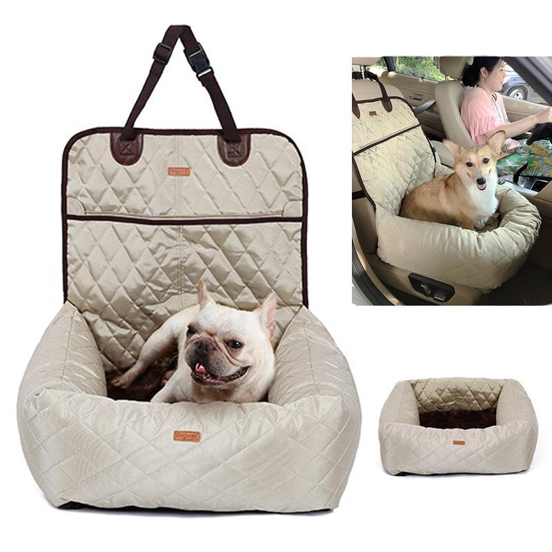 Küçük Orta Köpekler Ön / Arka Koltuk için Köpek Oto Koltuk Yatak Seyahat Köpek Oto Koltukları Kapalı / Araba kullanma Pet Araba Taşıyıcı Kapak Çıkarılabilir