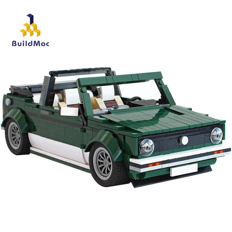 BuildMoc Technic Creator Mini Cooper Cabriolet Sport Roadster Building Blocks Super-Rennwagen Fit Bricks Kinder Spielzeug Jungen Geschenke 1008