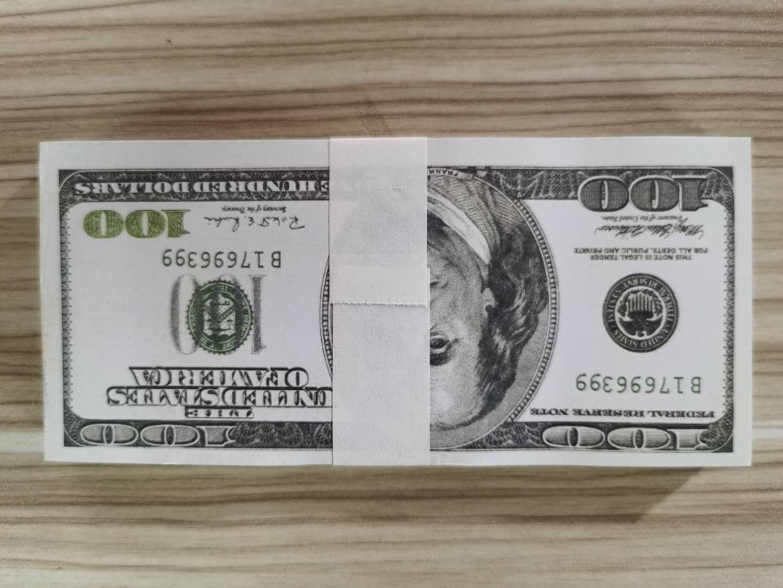 ABD Doları Sıcak Satış Sahte Para Filmler Prop 20 50 100 Banka Not Sayma Prop Para Şenlikli Parti Oyunları Oyuncak Koleksiyonları Hediyeler
