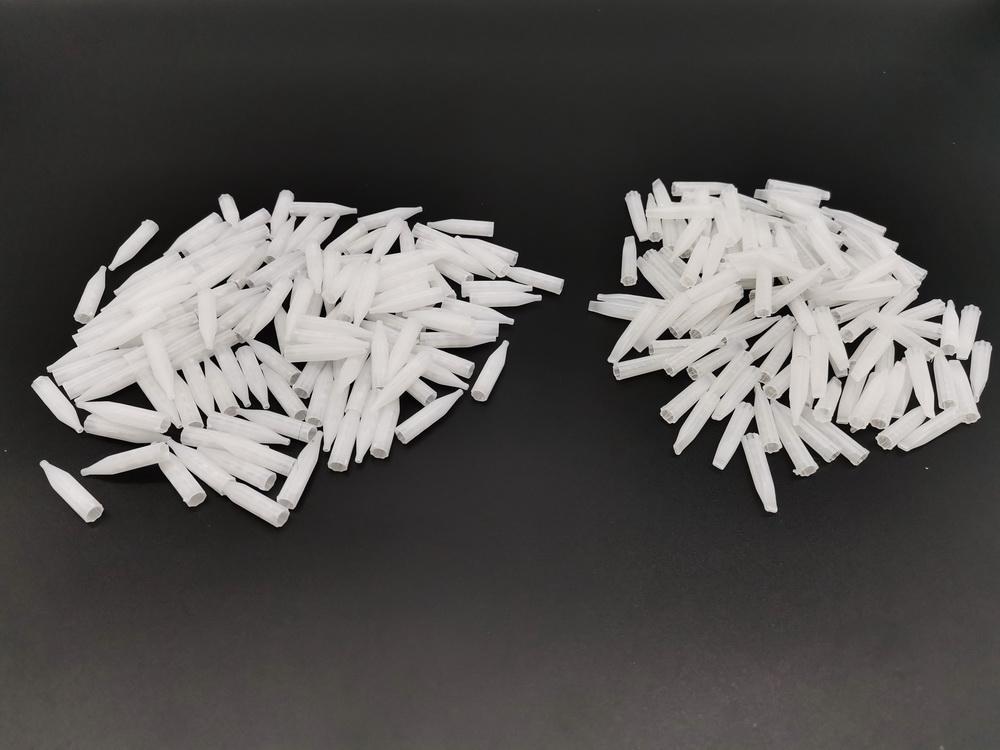 Nuovo 2500 pz 3,5,7R, 5,7f bianco mista monouso trucco permanente tatuaggio permanente trucco permanente punte di plastica ugelli