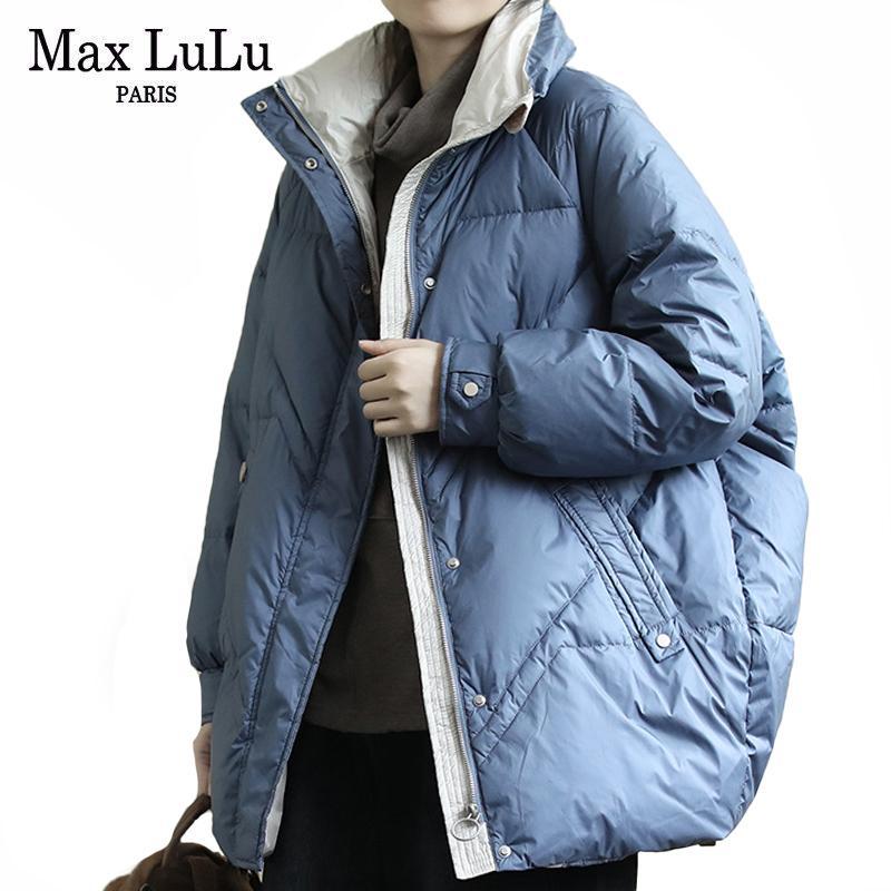 Abajo Max Calentar Lulu abrigos invierno de las mujeres de moda de Corea Espesar Diseñador prendas casuales chaquetas Parkas señoras suelta más el tamaño