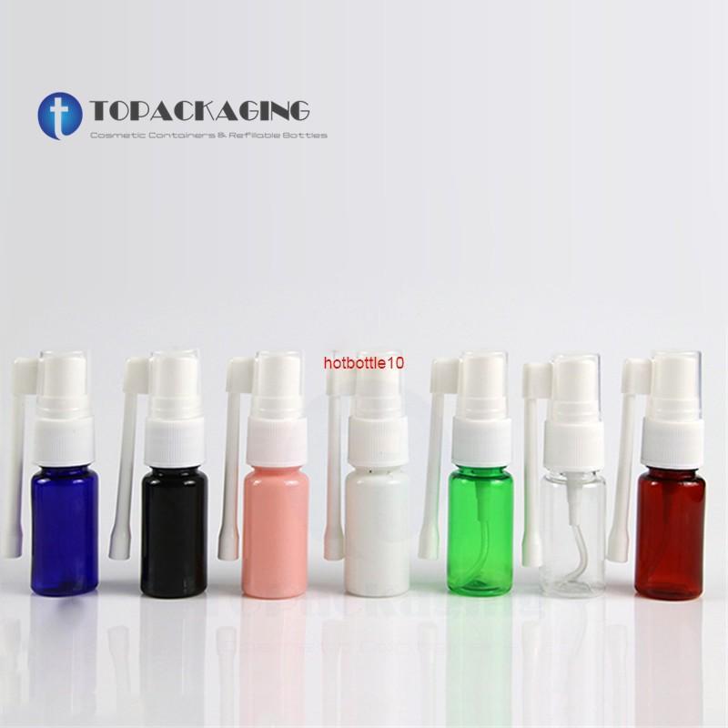100 шт. * 10 мл Пустой пластиковый пластик носовой бутылкой небольшой вращение тонкий туман распылительный нос фармацевтическая медицина распылитель покраснение