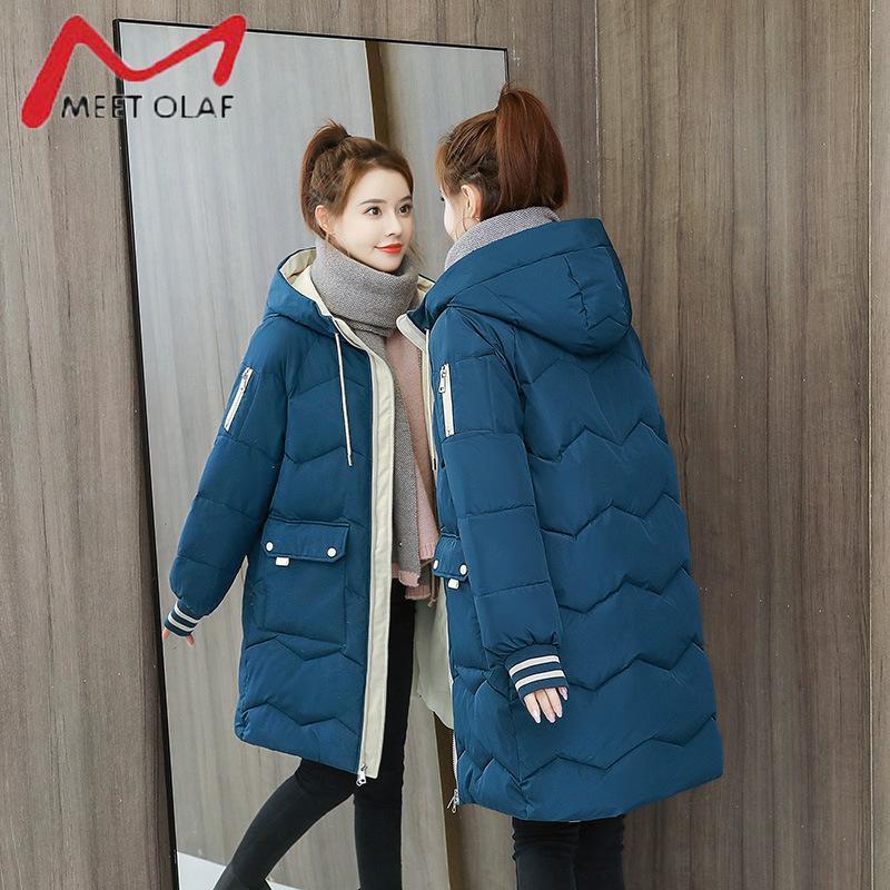 Jaquetas Down Casaco de Inverno Feminino Parkas Mulheres Com Capuz Quente Jaqueta de Inverno Casaco Algodão Algodão Jacket Plus Size XS-3XL
