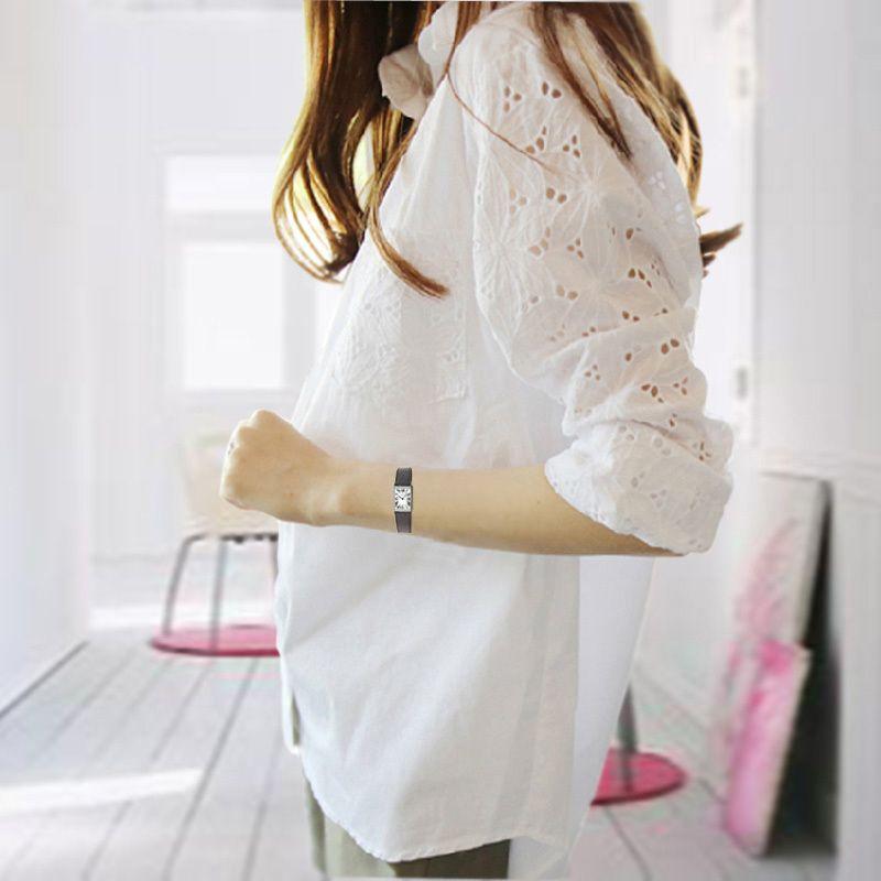 Fashion Large Plus Size 5XL tops Women Long Sleeve Blouse White Casual Lace Shirts Elegant OL Spring Summer Big Blusas Femininas T200429