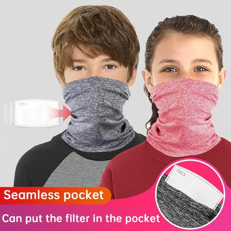 Летний Велоспорт банданы шеи Gaiter РМ2,5 Фильтры Многоцелевой лица крышки Unisex дышащий UV защиты Пешеходные шарф