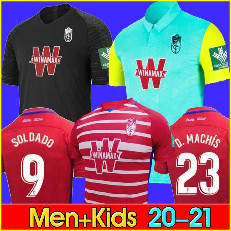 남성 + 어린이 2020 20 21 그라나다 CF 홈 떨어져 2021 그라나다 축구 유니폼 제 솔다도 헤레라 안토니오 푸에르타 축구 셔츠