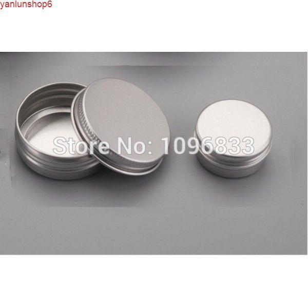 Tarro de crema cosmético de aluminio 10g, tapa de tornillo de frasco de metal vacío, caja de 10 ml, contenedor de embalaje de latas, 100pcs / lothigh quatity