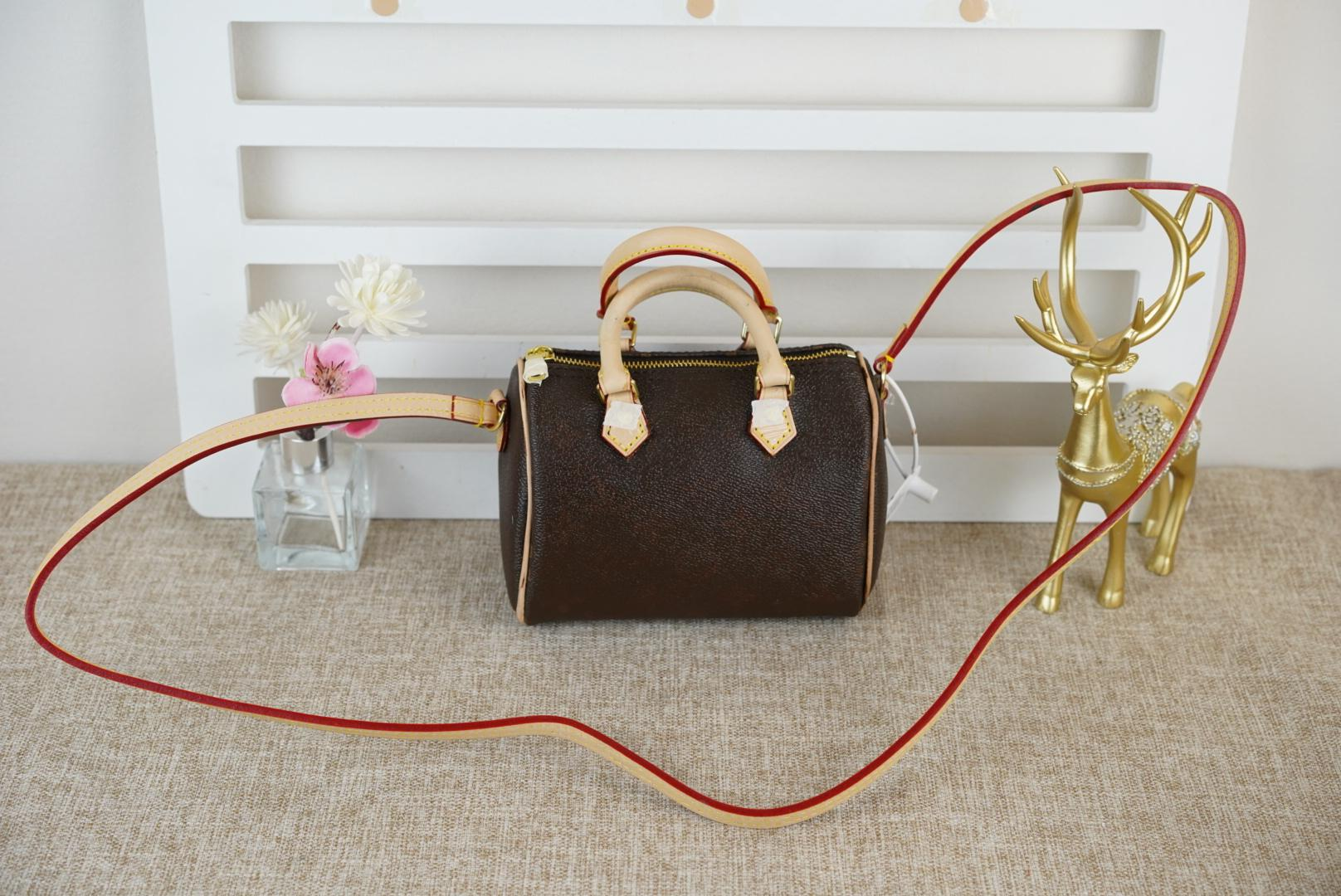 2020 Nova Mini Lona Genuíno Ladge Lady Messenger Bag Phone Bolsa de Telefone Fashion Sachel Ombro Bag Bolsa 61252 Frete Grátis!