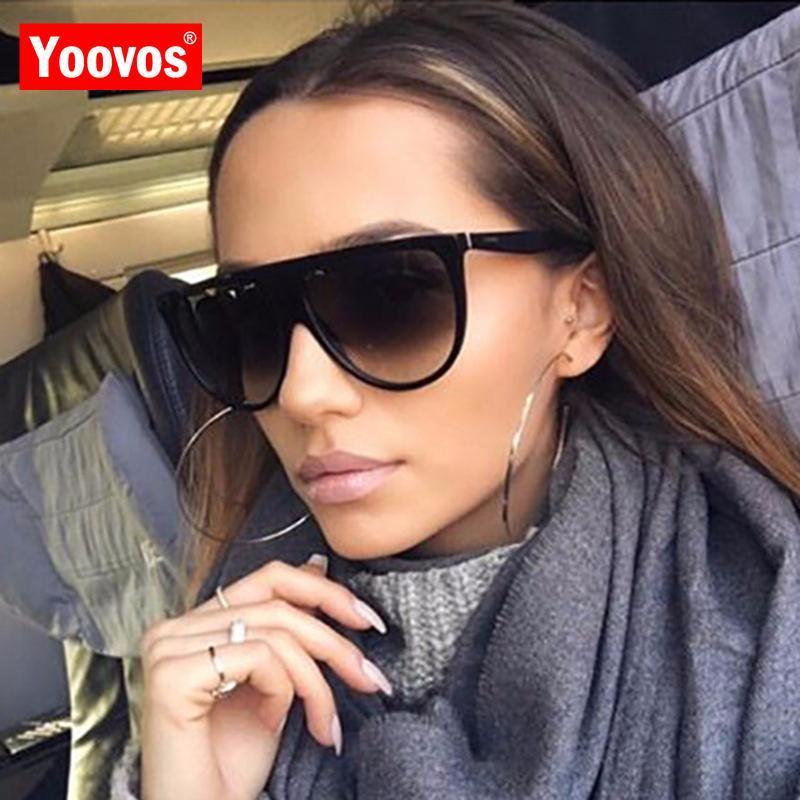 Yoovos 2020 neuer Luxus-Sonnenbrille-Frauen-Weinlese-Designer Mann / Frauen-große Feld-Gläser klassische Outdoor-UV400