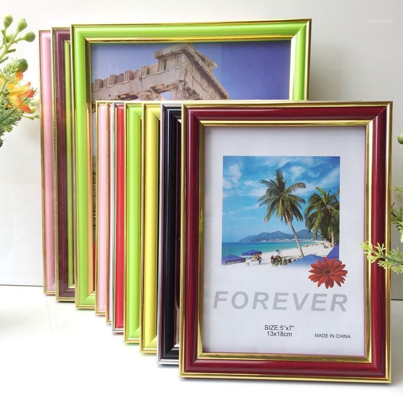 PVC Кадры кадров Американский стиль фото рамка рамка плаката для стены висит картинка стены для гостиной1