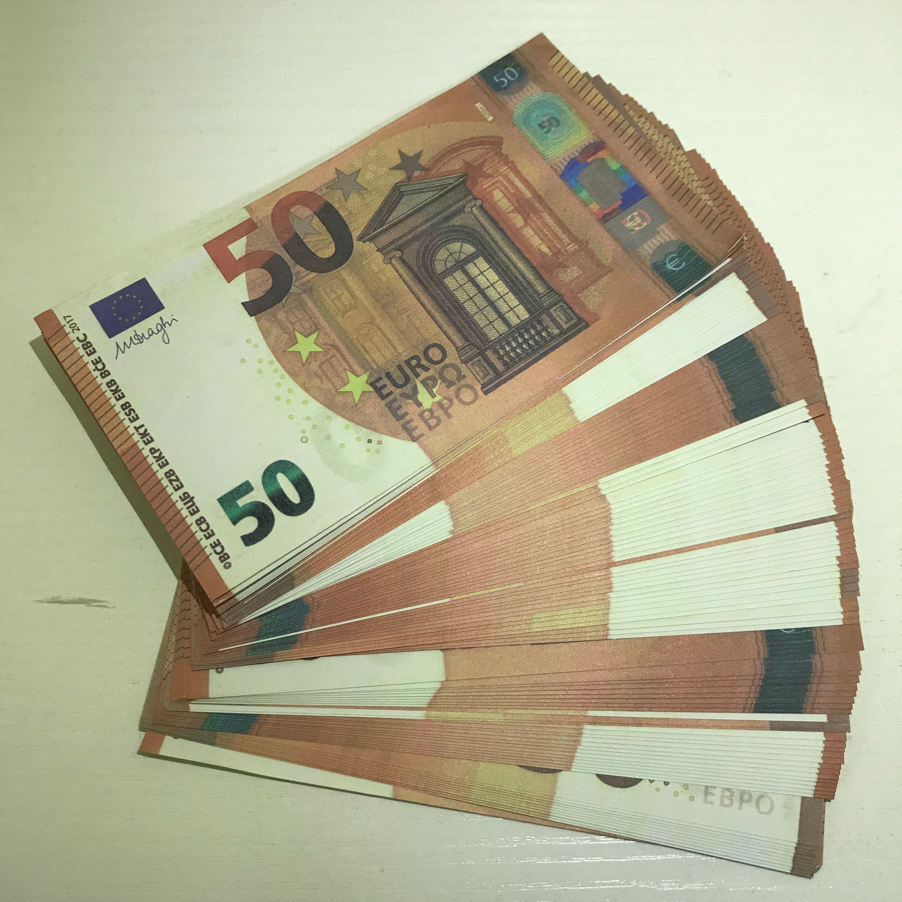 Hot Banknote LE50-40 Shooting Atmosphäre Spielzeug MV Fälschung Prop 50 bar Prop Gefälligkeit Euro Copy Party Bühne SGSFP Jatoa