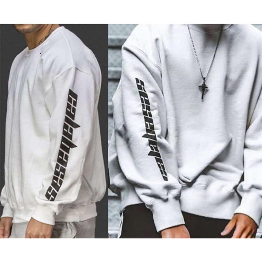 Hip Hop Men Donne 1: 1 di alta qualità Kanye West Crew Necks Streetwear Felpe con cappuccio Pullover Season 4 Felpa