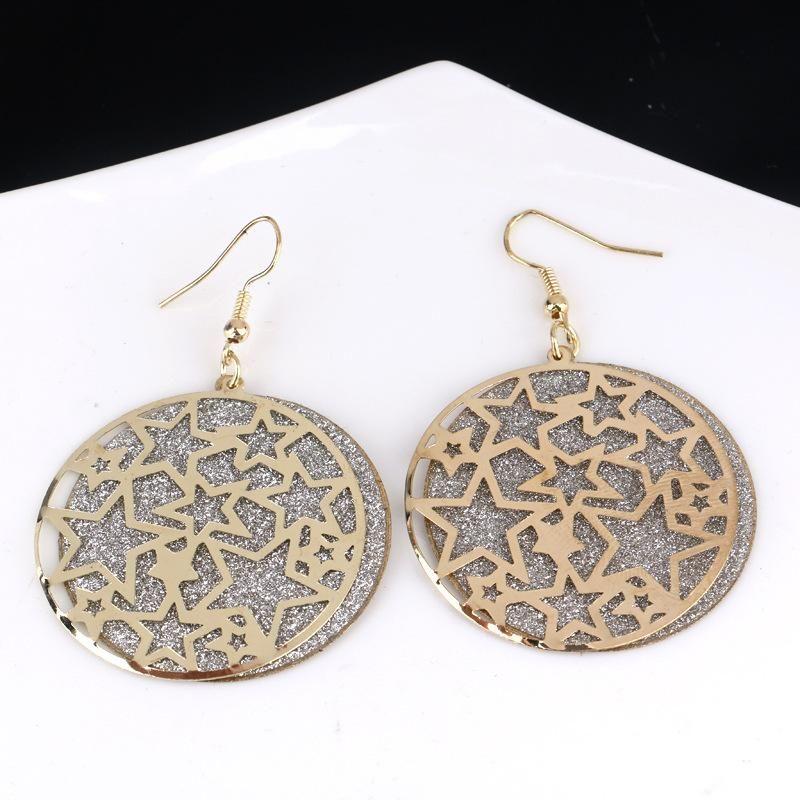 Ohrring-Silber / Gold Kristall Lange Frauen Scrub-Tropfen-Haken baumeln Ohrringe