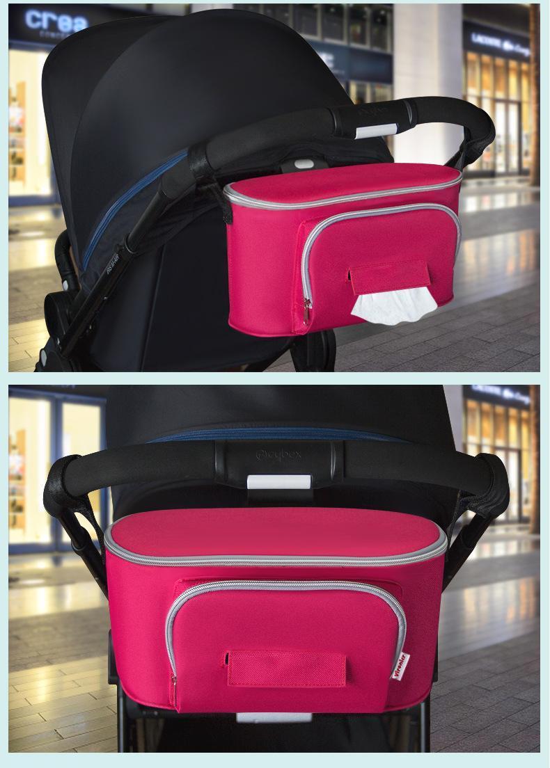 Passeggino per bambini Mommy Bag Diaper Bags Borsa di grandi dimensioni Sacchetto di stoccaggio di grande capacità su impugnatura PANGRAING BANCHINE POSS PANGIATA O HOPBOS Accessori passeggino