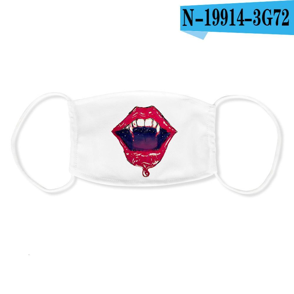 Lips 3d stampate per adulti anti-polvere e anti-haze Maschere gelato può essere messo con PM2.5 filtro per uso ripetuto