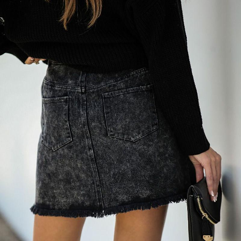 Moda Tasarım Kadın Elbiseler Denim Etek Bayanlar Kalça Etekler Bayan Giyim Için Yaz Dresse