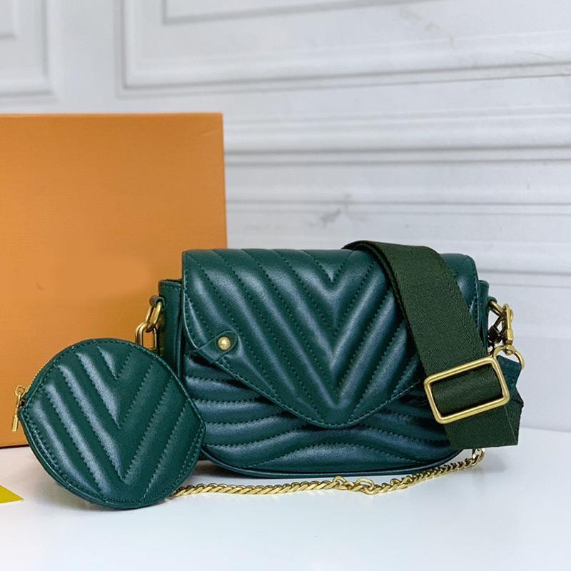 Lady Brochebody Sac rond zéro portefeuille sac à bandoulière mode Cowhide Véritable Fil en cuir véritable Disque à bandoulière remplissable HASP