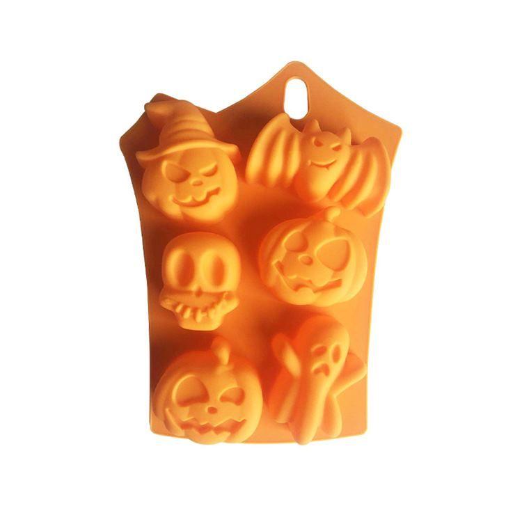 실리콘 초콜릿 몰드 할로윈 DIY 사탕 금형 해골 호박 박쥐 실리콘 쿠키 초콜릿 베이킹 금형 T2I51631
