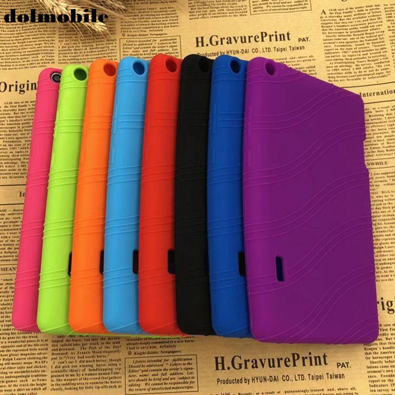 Dolmobile Soft TPU Back Cover Silikon Fall für Huawei MediaPad T3 7.0 BG2-W09 Ehre Play Pad 2 7 Tablet + Stylus Stift 50pcs