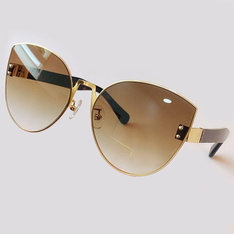 Luxury Fashion Cat Eye Women Sunglasses Brand Design Metal Alloy Frame Sun Glasses New Men Eyeglasses With Original Box UV400