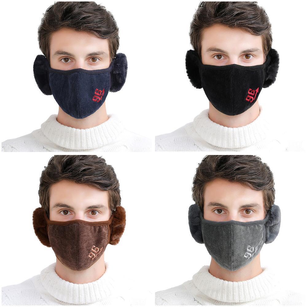 Winter Caps Washable Mouth Masks Reusable for Men Warm Plush Face Mask Mondmasker Wasbaar Mascarillas Tkhh