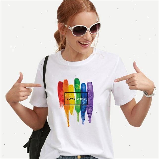 Rainbow Love Wins femmina T shirt è donna lesbica top shirt tee kawaii femme graphic vestiti