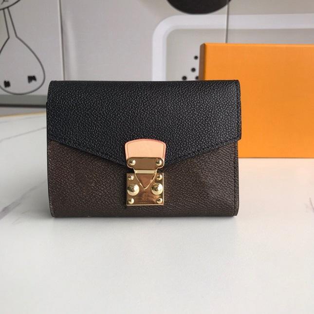 luxurys designers wallet Purse Woman Fashion Clutch purses Monogrames S-lock Pallas Short Wallet Card Holder Purse With Box Dust Bag M67478