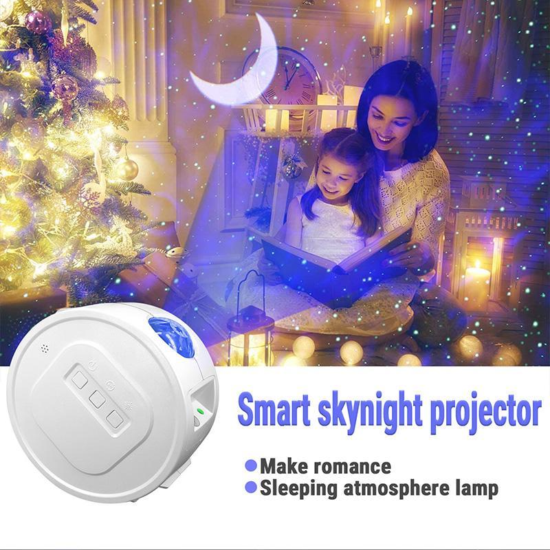 New Starry Sky Projetor LED Moon Star Nebula Night Light 6 Cores Oceano Onda Water Onda Night Lamp Children Kids Night Lamp