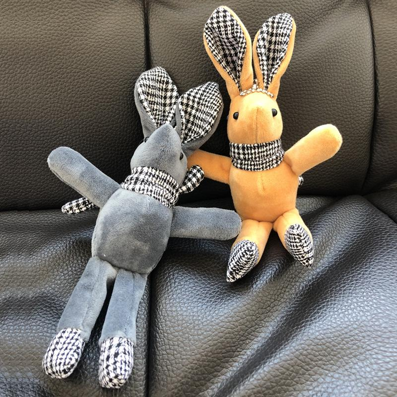 Nouvelle souhaitant poupée de lapin en peluche velours coréenne pendentif en peluche poupée de lapin aux longues jambes coffret cadeau bouquet immortel 01