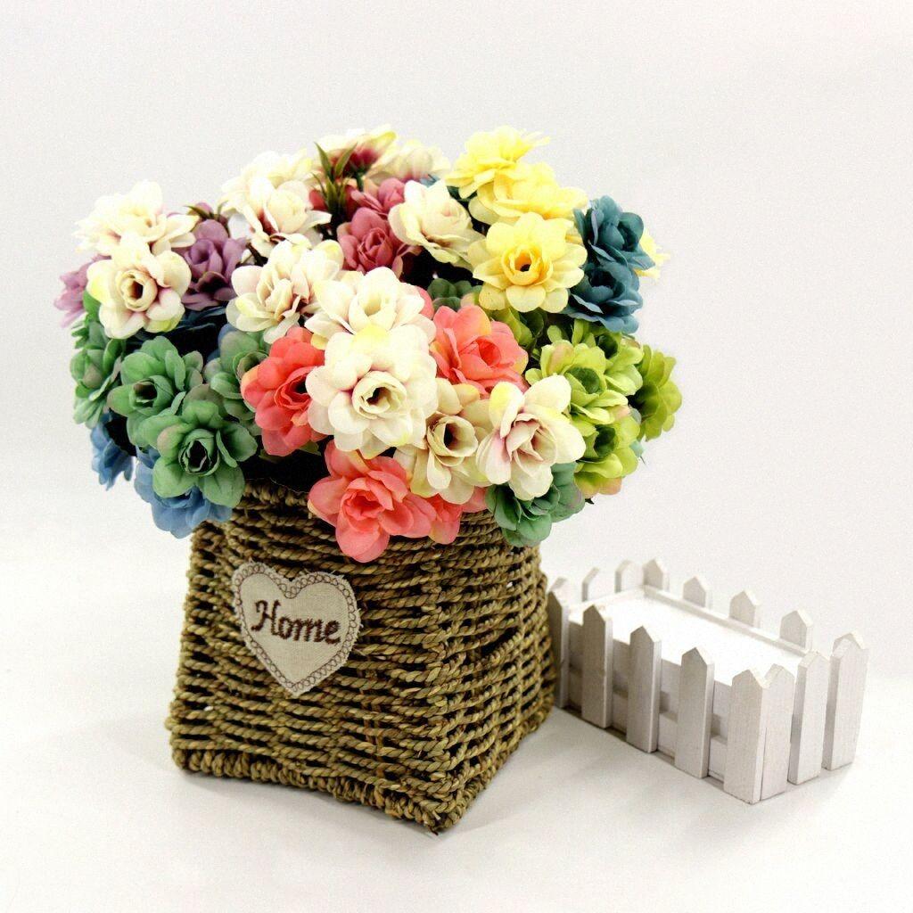 10 Heads Artificial Flowers Daisy Bouquet for Wedding Decoration Fake Flowers Home Decor Silk Hydrangeas lovely Flower Decor 993p#