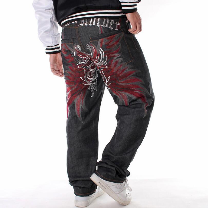 Vente chaude en Europe Hip Hop Hommes Jeans Jeans broderie 2020 Denim pantalon en vrac taille Man Super Plus 6XL Skate pantalon droites