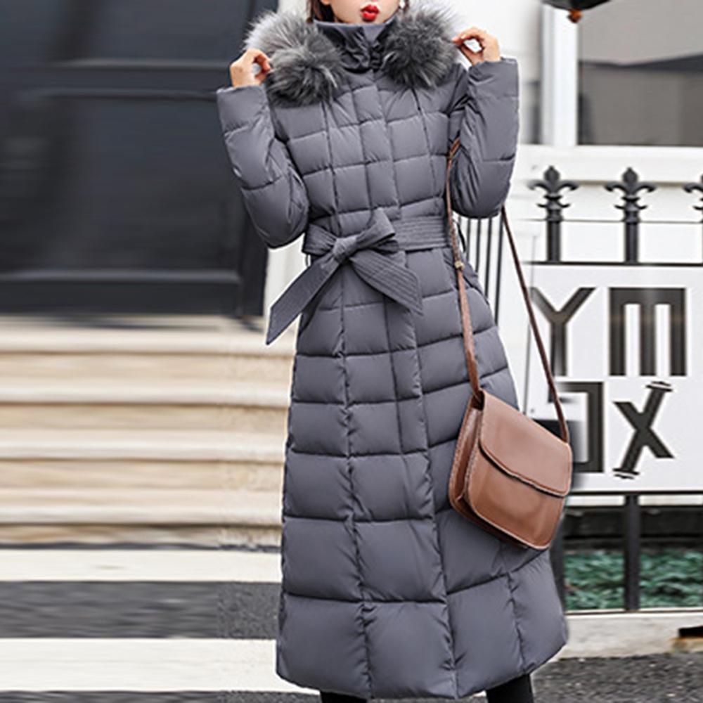 New Parkas Coat Women Winter Chaqueta de algodón acolchado cálido Maxi Puffer Ladies Slim Long Abrigos Parka Femme Down Jacket 201128