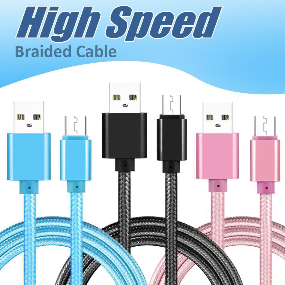 Superfast High Speed Tipo de cabo USB C Carregamento Adaptador Dados Sincronização de Metal Carregando Adaptador de Telefone 0.48mm Espessura Forte Trançado USB C carregador