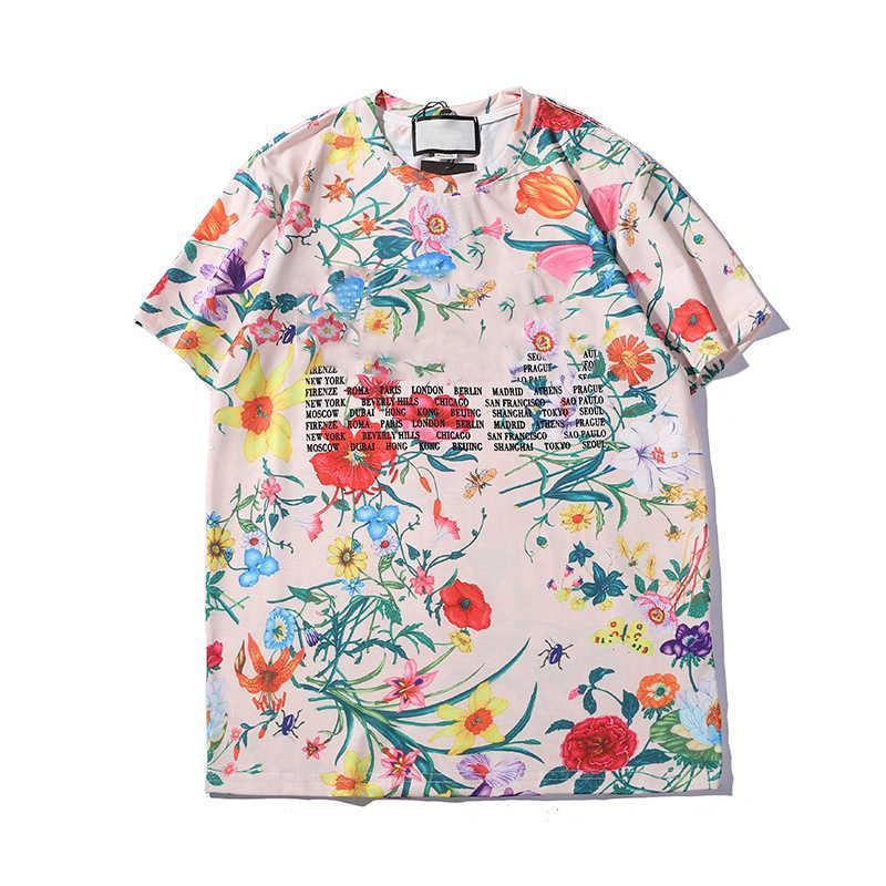 2020 Mens Tees Verão Luxo Europa Mens T Shirt Top Quality Camisetas Moda De Alta Qualidade Designer Camiseta Mulheres Rua Casual Tee