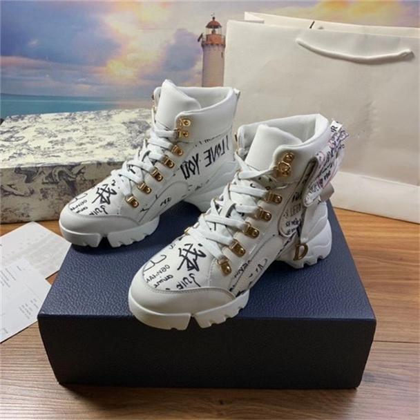 2020 Originals baratos Shoes Homens Mulheres Oblique tênis de cano alto tamanho impresso-dinossauro 35-44 Q11