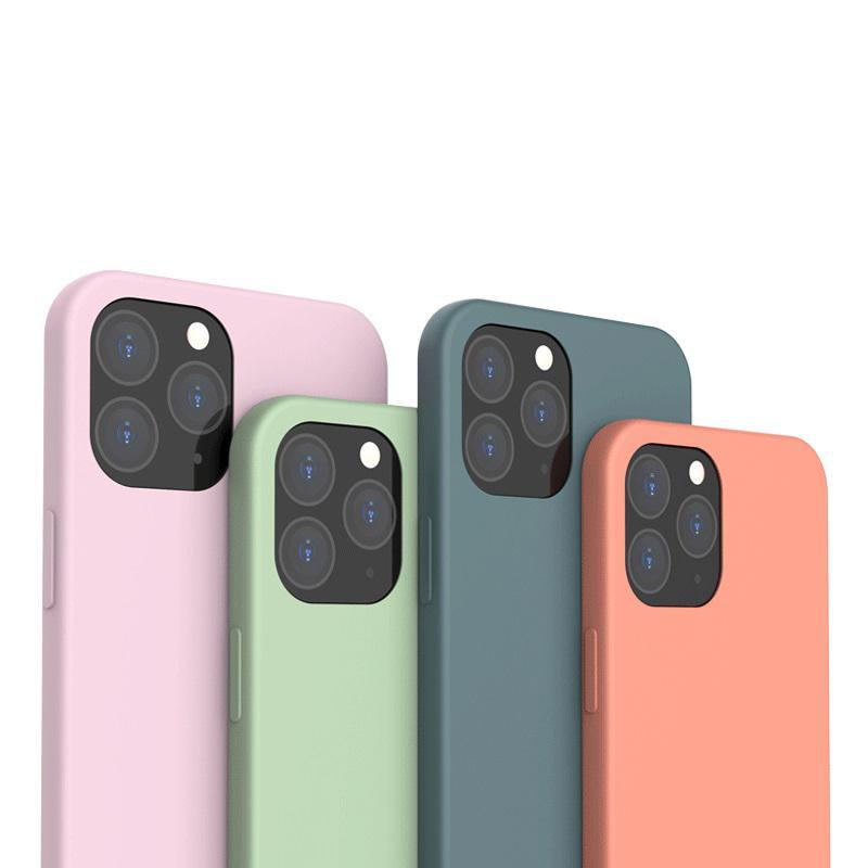 Ультратонкий TPU силиконовый чехол конфеты мягкие телефон Чехлы для iPhone 12 11 Pro Max Mini iPhone XR X XS MAX Full противоударный Cover