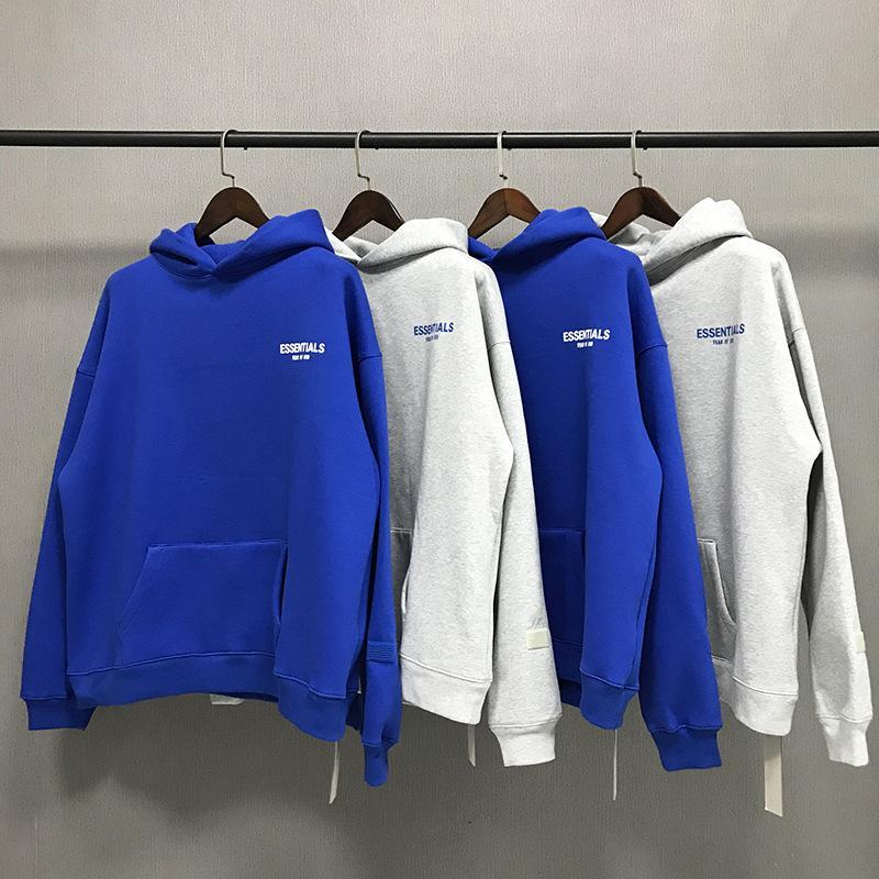 Fashion Street Fath High God Essentials La Maglione Joint Fog Trend Blue Brand of Street S-XL Limited Felpa con cappuccio Qualità Designer allentato alto RXBM