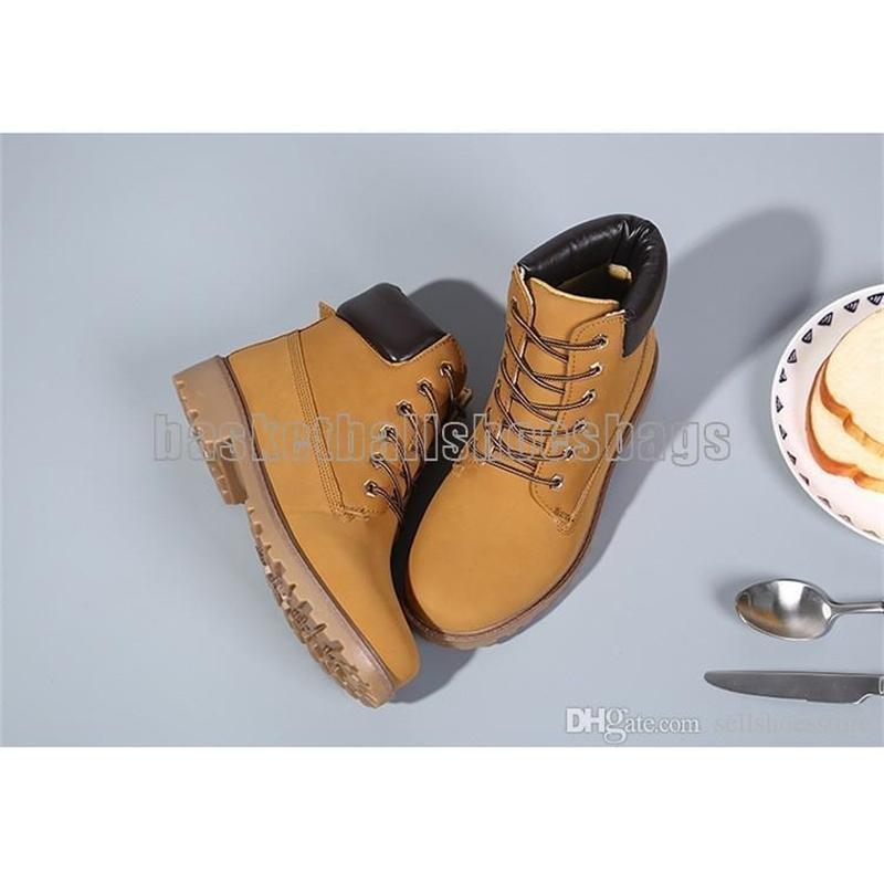 La alta calidad de la madera nueva tierra moda Martin botas botas de nieve botas al aire libre casual zapatos de madera barata clásico amante del invierno Bot 9GSI