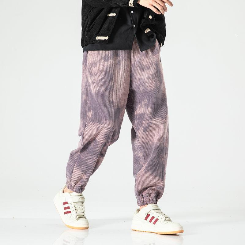 MrGoldenBowl Men's Chinese Style Pants 2020 Autumn New Tie-dyed Woman Long Pants Big Size Loose Male Fashion Casual1
