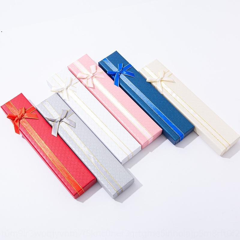 ZT2H7 Lingge Pattern Подарочная упаковка ювелирных изделий браслет браслет лук лента прямоугольная коробка ремесленный