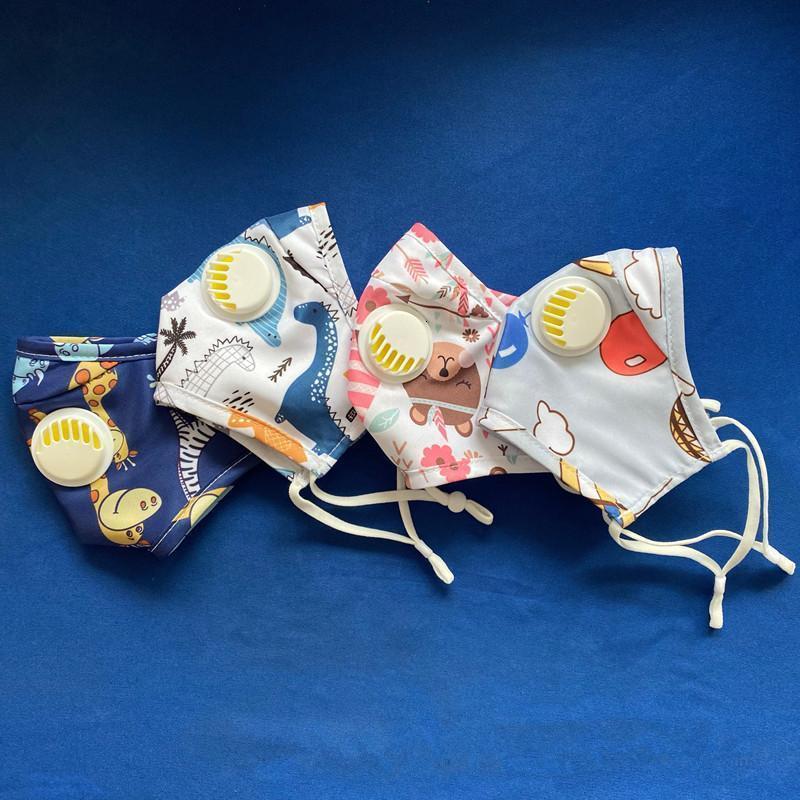 Boca tela diseño de moda cara anti-polvo aliento lavabo con válvula reutilizable niños máscara máscara jrwaw