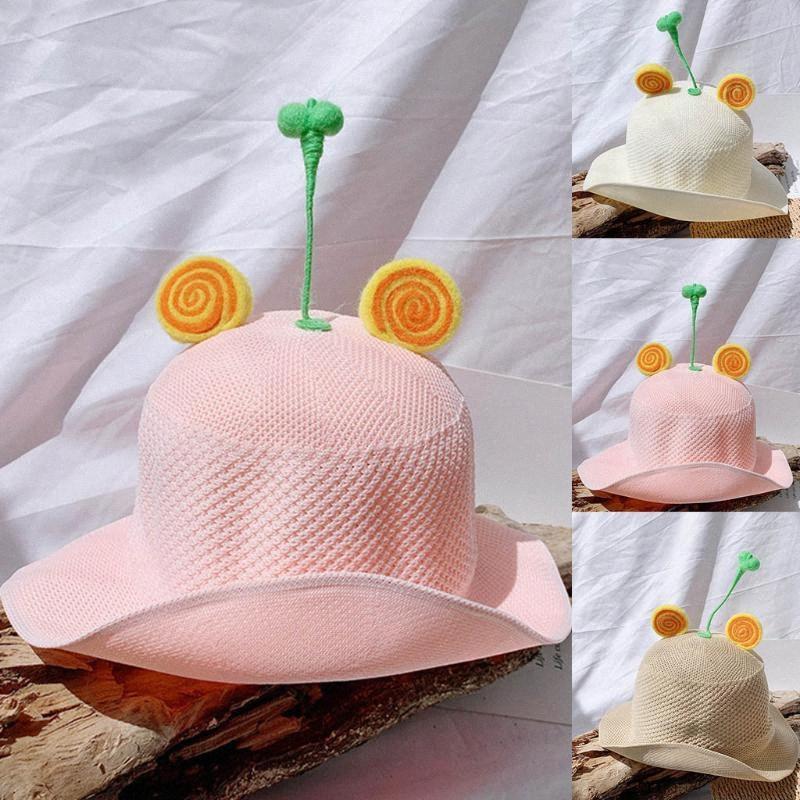 Çocuklar Yaz Hasır Şapka Prenses Karikatür Kepçe Plaj Güneş Koruma Hat 1p8q #