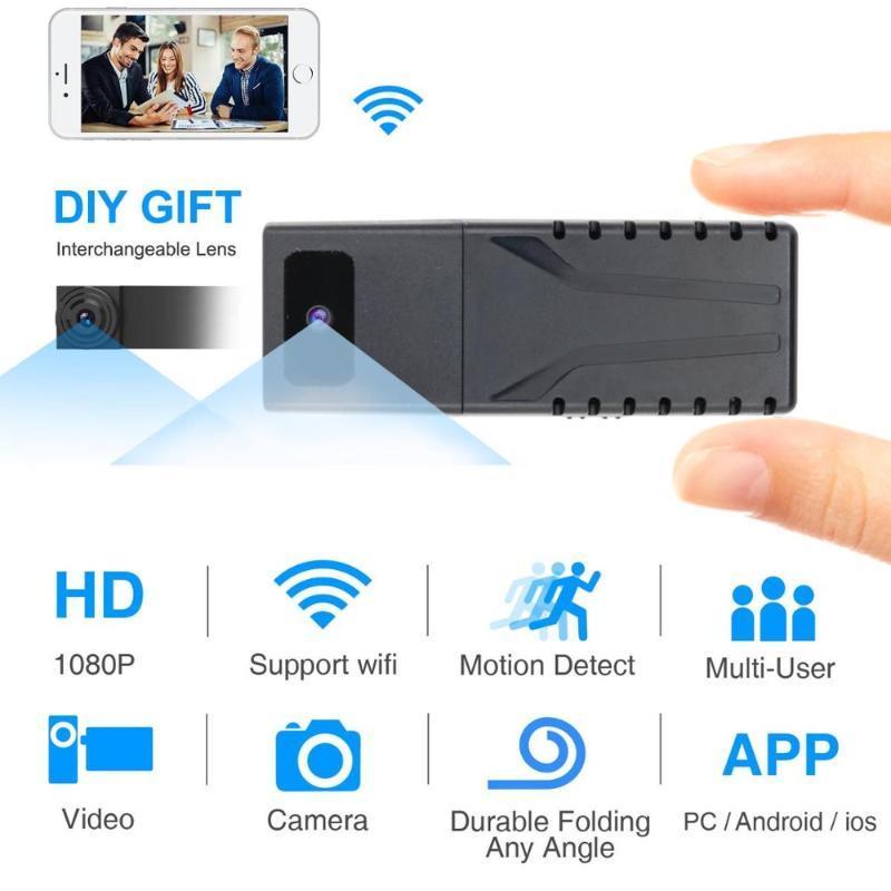 JOZUZE HD 1080P DIY Portable WiFi IP Mini Camera P2P Wireless Micro webcam Camcorder Video Recorder Support Remote View TF card